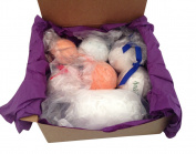 Bath Bombs Gift Set - 6 Extra Large, 130ml Bath Bomb Fizzies With Bonus Mesh Pouffe Sponge. Handmade In The USA