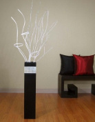 Shopping The Globe 70cm Tall MDF Floor Vase - Black & Silver Accent
