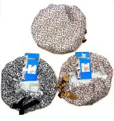3 Pack Premium Lined Shower Cap Black and Brown Leopard Zebra Prints with Bow