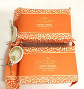 Two Bar Set, Castelbel Harvest Pumpkin 300 Gramme Large Luxury Soap Bar -