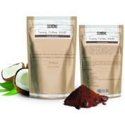 SCHÖNE Coffee Body Scrub With Dead Sea Salts & Shea Butter Reduces Stretch Marks Anti Cellulite Kona Coffee Scrub 100% Natural 240ml