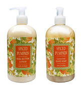 Spiced Pumpkin Shea Butter Hand & Body Lotion and Spiced Pumpkin Hand Soap Duo Set 470ml each by Greenwich Bay Trading Co.