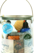 The Perfect Deluxe Equestrian Gift Spa Basket by LBK Soap Company 240ml Bergamot Orange Citrus Hand and Body Lotion,60ml Spa Facial Clay with Sea Kelp,120ml Almond Oil,10pc Handmade Artisan Soaps Assorted Fragrances Plumeria,Lavender,Jasmine,Mountain F ..