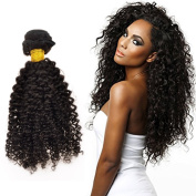 Feelontop® 100% Unprocessed 6a Malaysian Kinky Curly Hair Weaves 5pcs Kinky Curly Hair Extensions Hair Products Natural Black