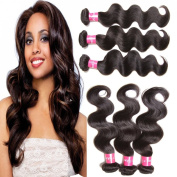 ALI JULIA Hair 7A Grade 3PCS Lot Malaysian Virgin Hair Weave Unprocessed Malaysian Body Wave Human Hair Extensions Natural Colour Can Be Dyed and Bleached Mixed Length