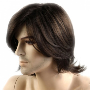 Weeck Short Style Men's Dark Brown Lace Cosplay Wigs