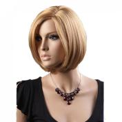 Weeck Women Short Girl's Light Golden Hair Cosplay Wigs