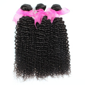 3pcs/lot 300g 7a Unprocessed Human Hair Weave Brazilian Virgin Curly Hair Extensions Natural Black Brazilian Afro Kinky Curly Virgin Hair Bundles Double Weft