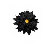 Large Black Flower Beak Clip Fascinator Races Weddings