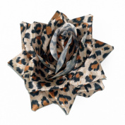 SOURPUSS Leopard Print Rose Hair Clip