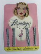 Flamingo Bob Pins Vintage Mid Century 15 Cards of 18 Bobby Pin Silver