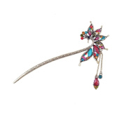 Vintage tassels hairpin, elegant peacock hair stick YHQ6029,Colourful