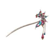 Vintage tassels hairpin, elegant peacock hair stick YHQ6029,Colourful