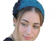 Sara Attali Design Special Lace Pre-tied Headband One Size Turqoise