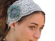 Sara Attali Design Special Lace Pre-tied Headband One Size Grey