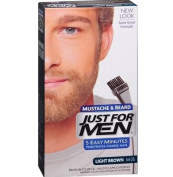 Just For Men Brush-In Colour Gel for Moustache & Beard, Light Brown M-25 1 ea