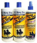 Mane N Tail Original Shampoo, Conditioner & Detangler Set