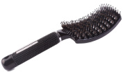 Barber Curved Vent Brush , Salon Blow Drying Brush, Boar Bristle Brush -Anti Static