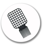 Afro & Twist Comb (Black)