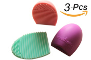 Scheppend Silicone Makeup Brush Egg Brush Cleaner,3Pcs