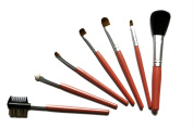VOLUMUS(TM) 7 pcs Professional Cosmetic Makeup Brushes Kit With Coloful Bag