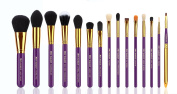 XMY Makeup 15pcs Professional Makeup Brushes Cosmetic Make up Brush Set Superior Soft