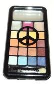 Blue & Brown PALETTE 16 Eye Shadows & 3 Lip Gloss Compact City Colour PEACE SIGN
