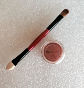 5g Jar Reddish Orange Matte Burnt Red Tinge of Mica Eye Shadow with 10cm Dual Eyeshadow Stick