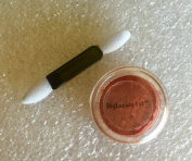 3g Jar Reddish Orange Matte Burnt Red Tinge of Mica Eye Shadow with 5.1cm Eyeshadow Stick