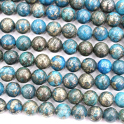 Colour Plated Natural Pyrite Round Gemstone Jewellery Making Loose Beads for Necklace or Bracelet