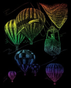 Rainbow Foil Engraving Art Kit 20cm x 25cm -Hot Air Balloons - Rainbow Foil Engraving Art Kit 20cm x 25cm -Hot Air Balloonsroyal Brush-Rainbow Foil Engraving Art Kit. You Can Engrave Your Very Own Fun Designed P