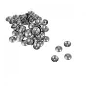 VALYRIA 100pcs Stainless Steel Silver Flower Bead Cap Connector Finding Supplies 6mmx6mm