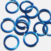 TURQUOISE Anodized Aluminium Jump Rings 250 1/4 18g SAW CUT