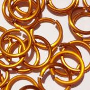ORANGE Anodized Aluminium Jump Rings 250 1/4 18g SAW CUT