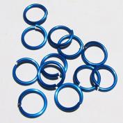 BLUE Anodized Aluminium Jump Rings 250 1/4 18g SAW CUT