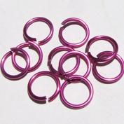 PINK Anodized Aluminium Jump Rings 250 1/4 18g SAW CUT