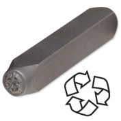 Recycle Symbol Steel Design Stamp Punch Tool to Embellish Metal, Plastic, Jewellery Blanks, Clay+