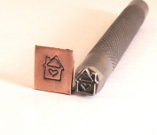 Big House Heart 7mm x 8mm knurled shank, for stainless steel copper brass aluminium sterling