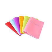 Schoolsupplies 6 Colours of Candy Colours Women Men Passport Holder Leather Bags Passport Cover Silicone Documents Folder