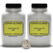 Copper (II) Oxide [CuO] 95% Reagent Grade Powder 0.9kg in Two Plastic Bottles USA