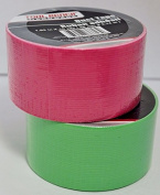 Pink and Green Duct Tape Bundle 2 Rolls - 4.8cm X 3m