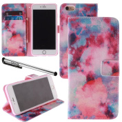 For 14cm iPhone 6 Plus, Urvoix(TM) Galaxy Nebula PU Leather Flip Wallet Case Cover - w/ Picture on Card Holder, Magnetic Closure, Stand Feature for iPhone 6Plus