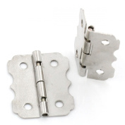 ZARABE 50PCs Door Hinge 4 Holes Silver Tone 24mmx20mm