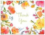 50 Cnt Watercolour Garden Floral Thank You Cards