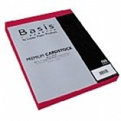 Basis Red 80# Cover 22cm x 28cm -100 sheets Limited PapersTM Brand