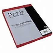 Basis Dark Red 80# Cover 22cm x 28cm -100 sheets Limited PapersTM Brand