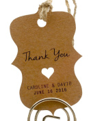 Summer-Ray.com 50 Personalised Mini Kraft Wedding Favour Gift Tags Little Violin
