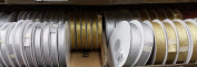 Metallic Gold & Silver Satin Ribbon 0.6cm to 1.9cm 33 Yard Roll