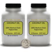 Coconut Oil [Fractionated Triglycerides] 100% Food Grade 0.5kg in Two Bottles USA