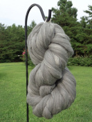 Grey Wool Top Roving Fibre Spinning, Felting Crafts USA